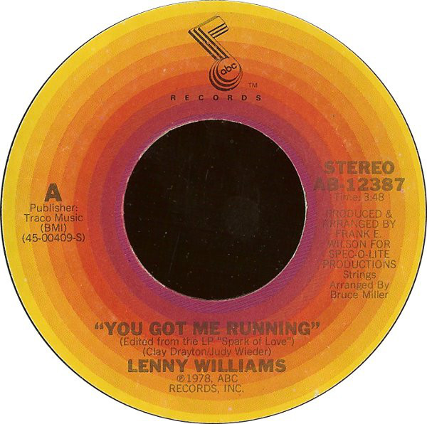 Lenny Williams - You Got Me Running