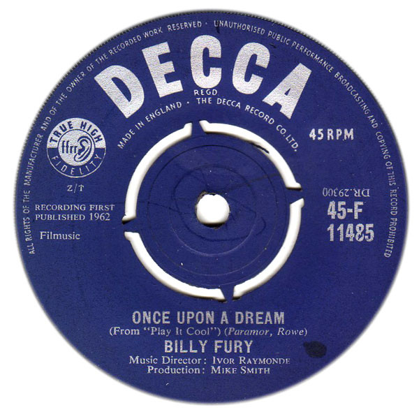 Billy Fury - Once Upon A Dream