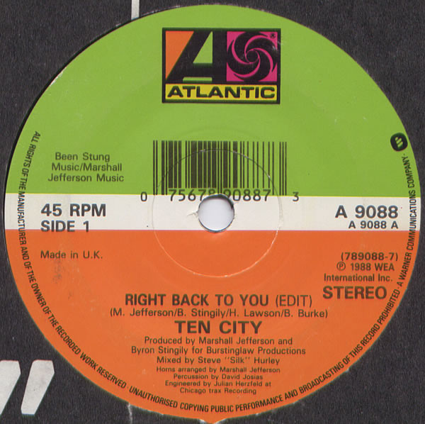 Ten City - Right Back To You