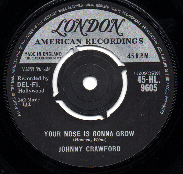 Johnny Crawford - Your Nose Is Gonna Grow / Something Special