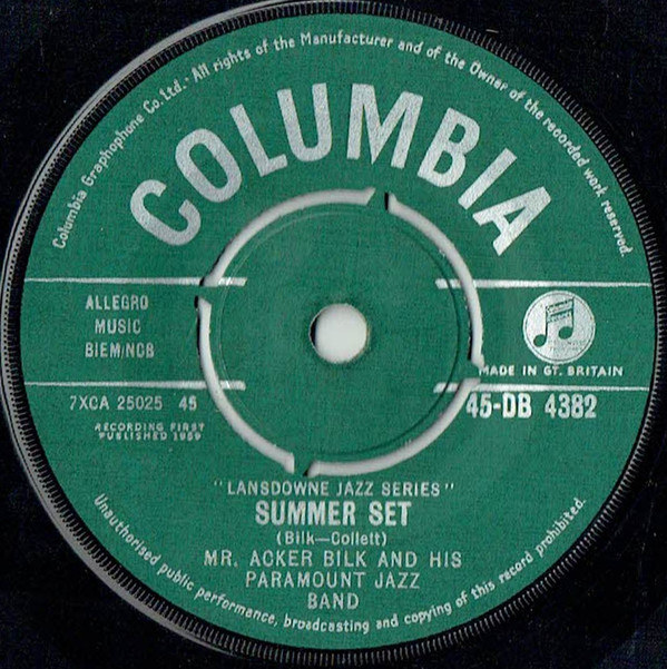 Mr. Acker Bilk And His Paramount Jazz Band -  Summer Set