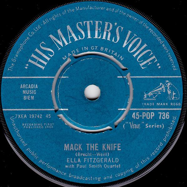 Ella Fitzgerald - Mack The Knife / Lorelei