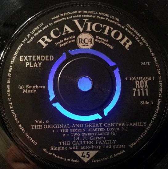 Carter Family - The Original And Great Carter Family Vol. 6