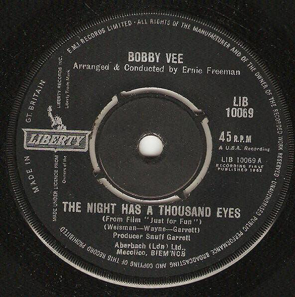 Bobby Vee - The Night Has A Thousand Eyes