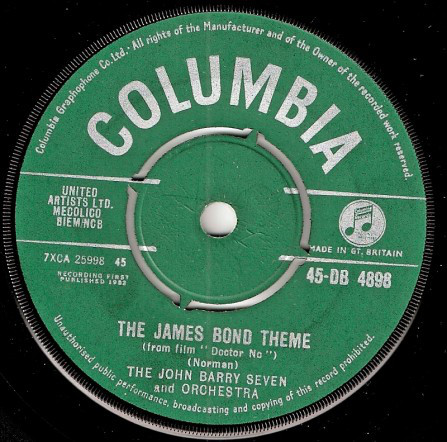 The John Barry Seven And Orchestra - The James Bond Theme (From Film