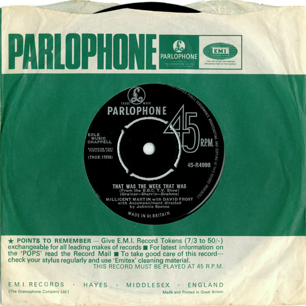 Millicent Martin With David Frost - That Was The Week That Was