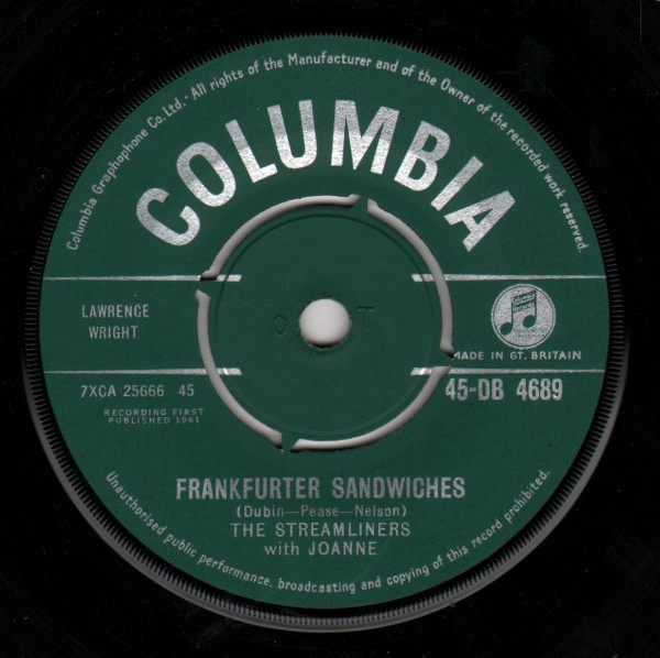 THE STREAMLINERS WITH JOANNE - Frankfurter Sandwiches - 45T x 1