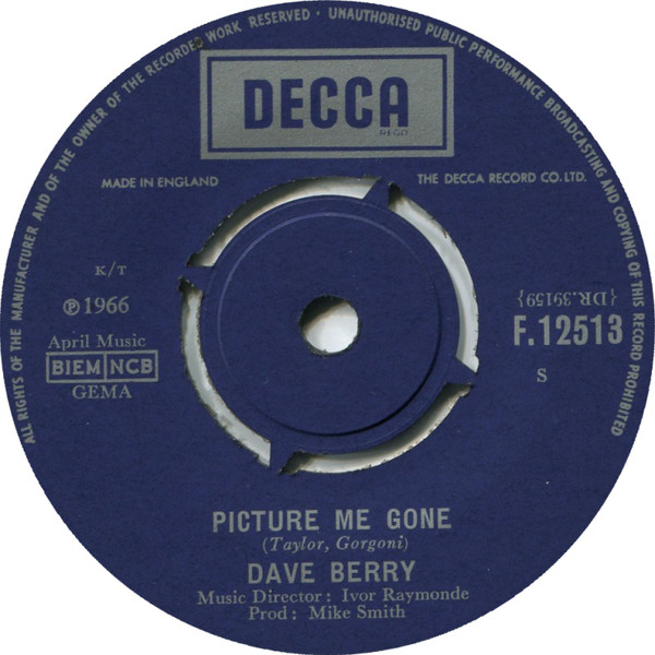 Dave Berry - Picture Me Gone / Ann