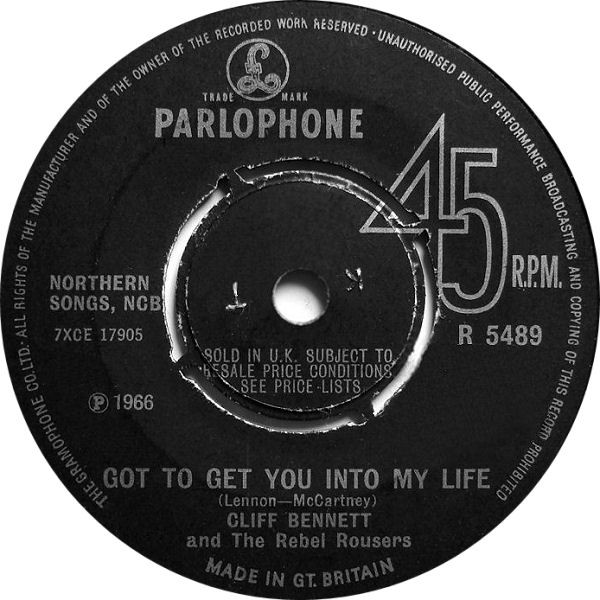 Cliff Bennett & The Rebel Rousers - Got To Get You Into My Life