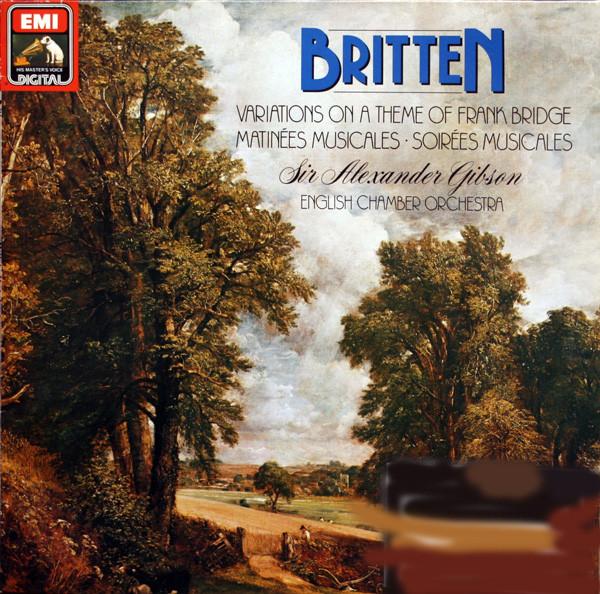 Britten- Sir Alexander Gibson, English Chamber -  Variations On A Theme Of Frank Bridge
