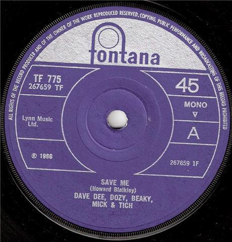 Dave Dee, Dozy, Beaky, Mick & Tich - Save Me