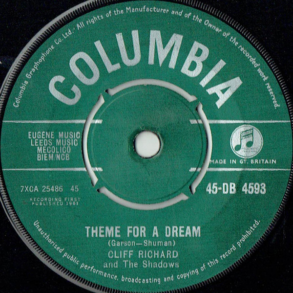 Cliff Richard And The Shadows - Theme For A Dream