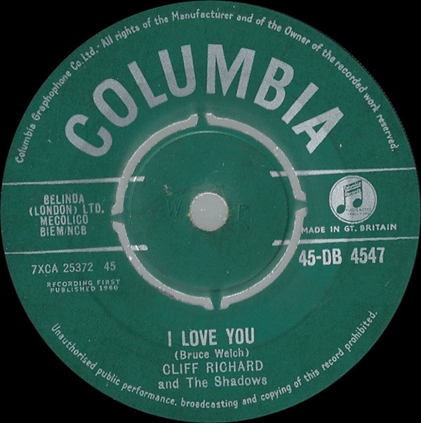 Cliff Richard And The Shadows - I Love You