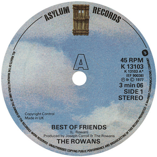 The Rowans - Best Of Friends