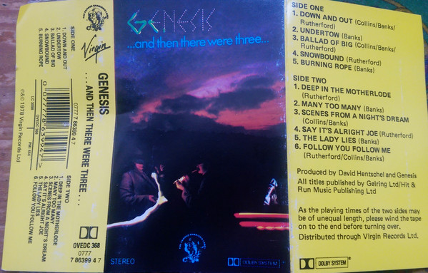 Genesis. -  ...And Then There Were Three..