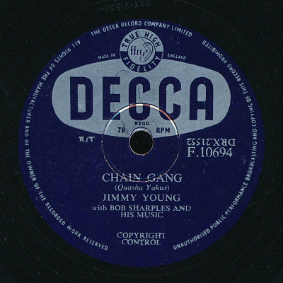 Jimmy Young With Bob Sharples And His Music - Chain Gang / Capri In May