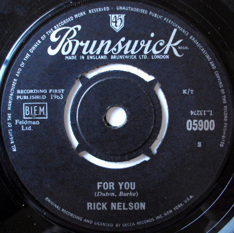 Rick Nelson - For You