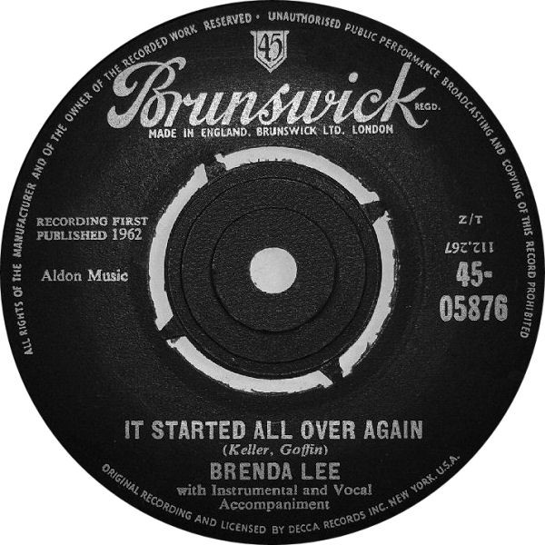 Brenda Lee -  It Started All Over Again / Heart In Hand