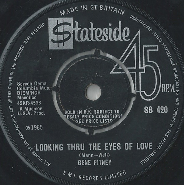 Gene Pitney - Looking Thru The Eyes Of Love