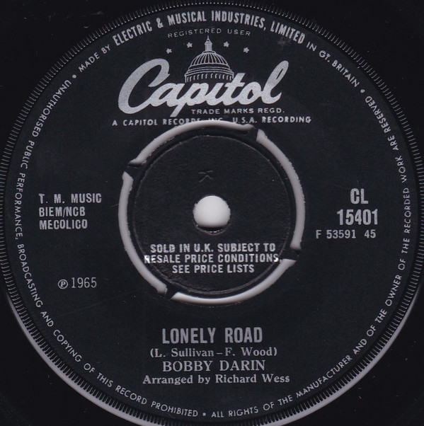 Bobby Darin - Lonely Road