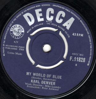 Karl Denver - My World Of Blue