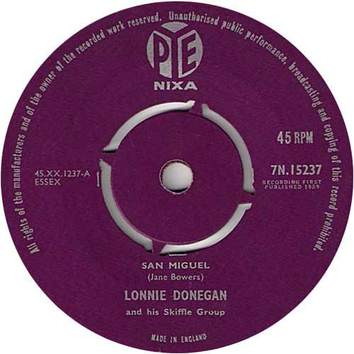 Lonnie Donegan And His Skiffle Group - San Miguel