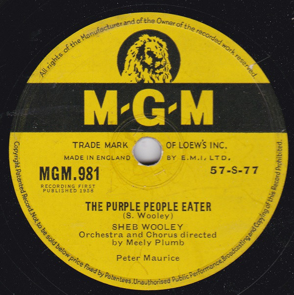 Sheb Wooley - The Purple People Eater / Recipe For Love