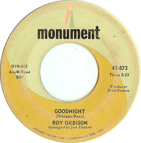 Roy Orbison - Goodnight