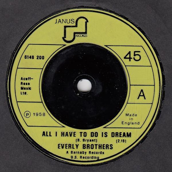 Everly Brothers - All I Have To Do Is Dream / Wake Up Little Susie