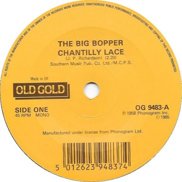 The Big Bopper / Freddie Bell - Chantilly Lace / Giddy Up A Ding Dong