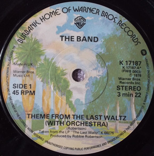 The Band - Theme From The Last Waltz