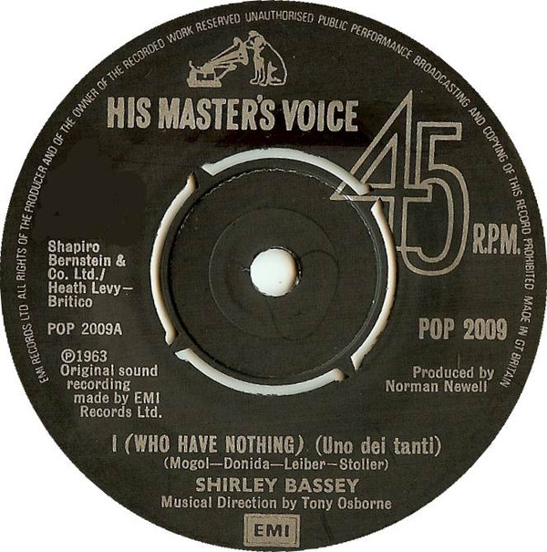 Shirley Bassey - I (Who Have Nothing)