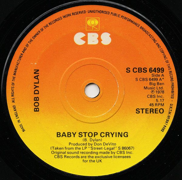 Bob Dylan - Baby Stop Crying