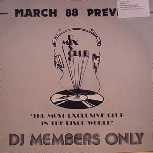 VARIOUS - DMC PREVIEW MARCH 88