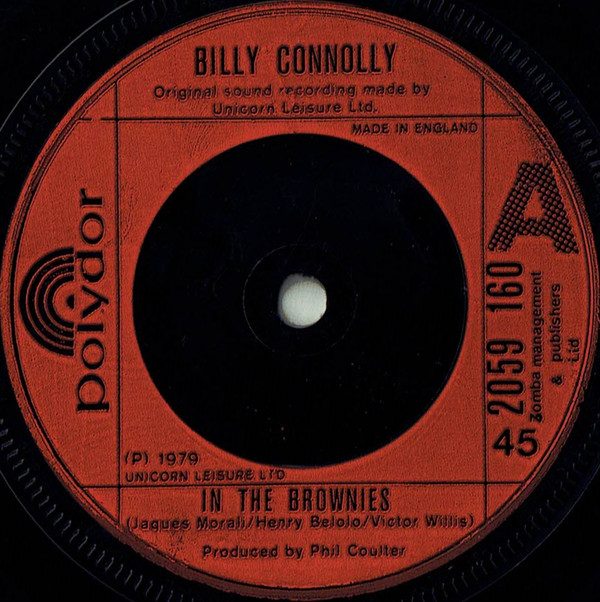 BILLY CONNOLLY - In The Brownies - 7inch x 1