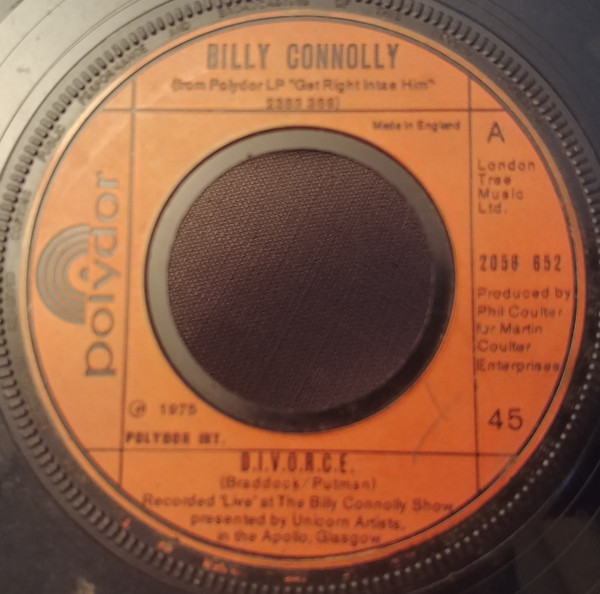 BILLY CONNOLLY - D.I.V.O.R.C.E. - 7inch x 1