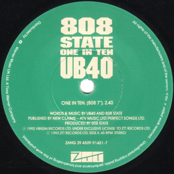 808 State, UB40 - One In Ten