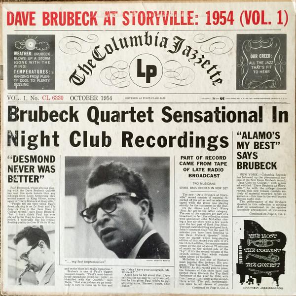 The Dave Brubeck Quartet - Dave Brubeck At Storyville: 1954 (Vol. 1)