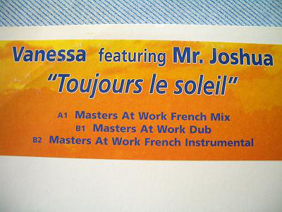 Vanessa Featuring Mr. Joshua - Toujours Le Soleil