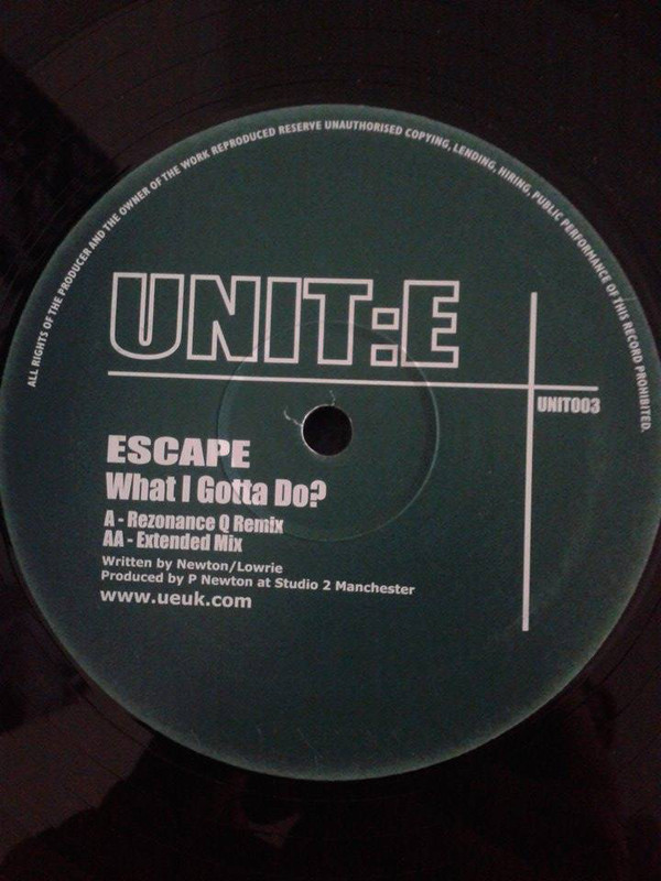 ESCAPE - WHAT I GOTTA DO?