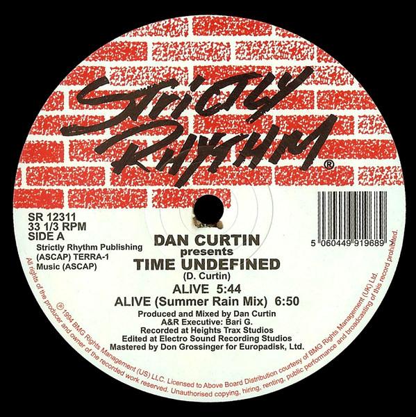 Dan Curtin Presents Time Undefined - Alive / Cascade