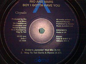 Rio And Mars - Boy I Gotta Have You