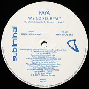 KAYA - MY GOD IS REAL (DOUBLE)