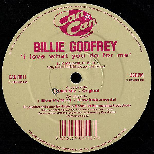 BILLIE GODFREY - I LOVE WHAT YOU DO FOR ME
