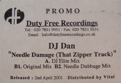 DJ DAN - NEEDLE DAMAGE (THAT ZIPPER TRACK)