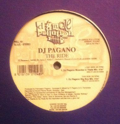 DJ PAGANO - THE RIDE