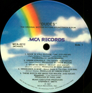 Various - Dudes - Original Motion Picture Soundtrack Album