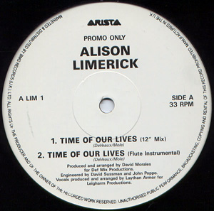 Alison Limerick - Time Of Our Lives