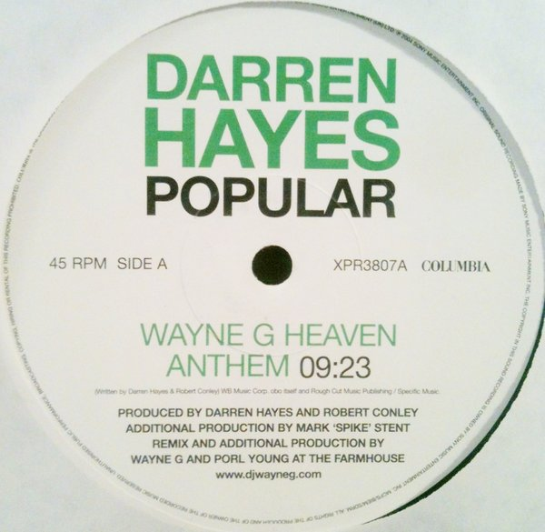 DARREN HAYES - POPULAR (REMIX)