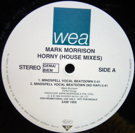 Mark Morrison - Horny (House Mixes)